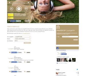 Lounge.fm Trackservice